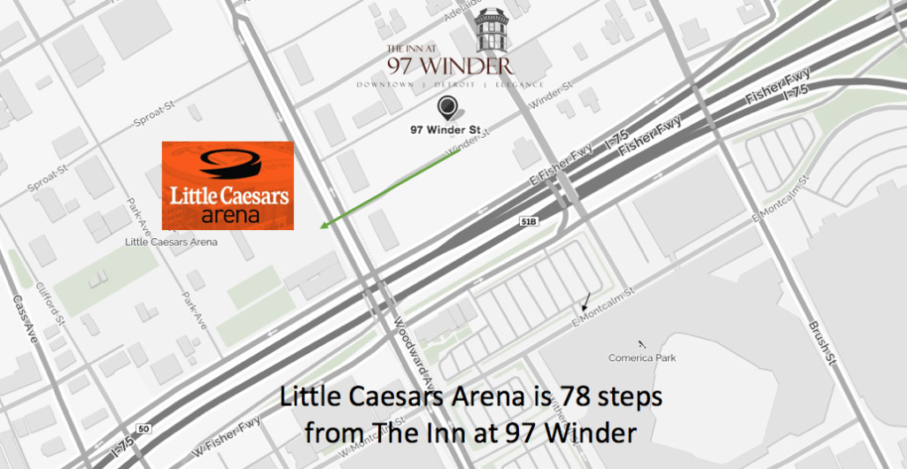 Closest hotel to Little Caesars Arena