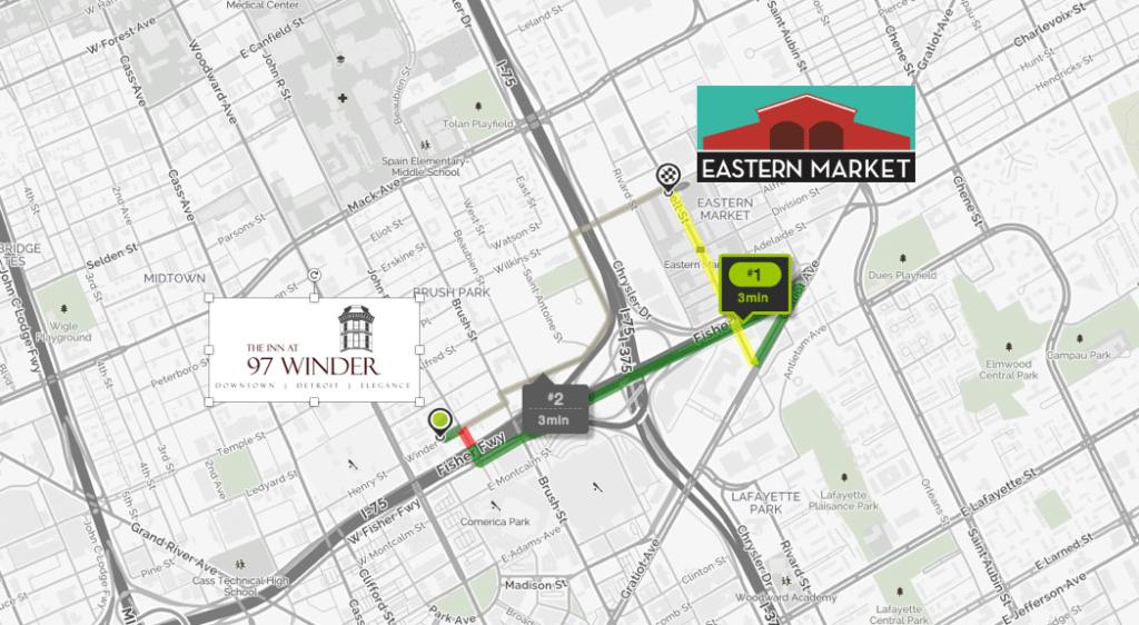 Eastern Market Detroit Map