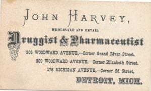 John Harvey's calling card.
